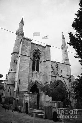 Selimiye Mosque Formerly Saint Sophia Cathedral Nicosia Lefkosia Trnc Turkish Nicosia Cyprus Print by Joe Fox