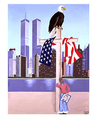 2001. World Trade Center Painting - Sept. 11th- God Is Our Refuge- Psalm 121 by Troy Guillory