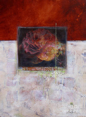 Abstract Collage Mixed Media - September Rose by Ann Powell