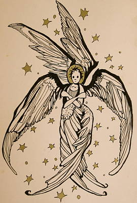 Drawing - Seraphim by Jackie Rock