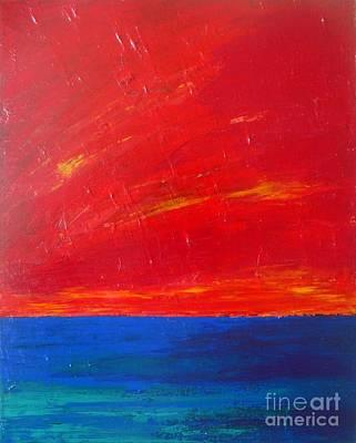 Red Sky Above The Sea Original by Vesna Antic