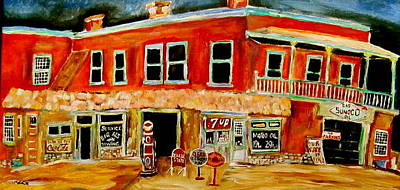 Litvack Painting - Service Station by Michael Litvack