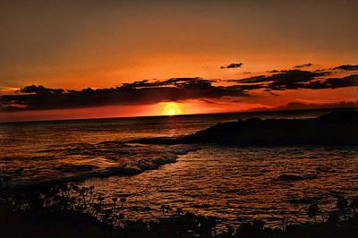 Ko Olina Lagoon Photograph - Setting Sun by Sheri Bartoszek