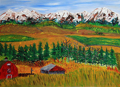 Prairie Painting - Settling In For Winter by James Bryron Love