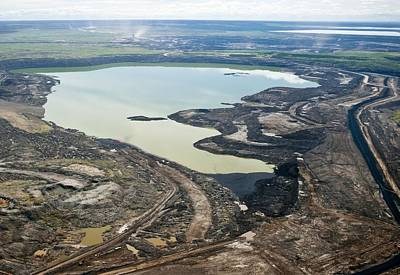 Settling Pond, Athabasca Oil Sands Print by David Nunuk