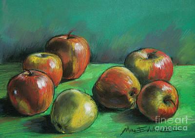 Seven Apples Print by Mona Edulesco