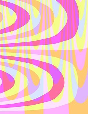Seventies Swirls Print by Louisa Knight