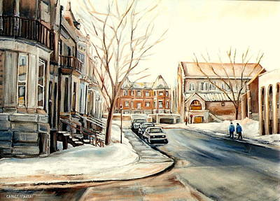 Jewish Montreal Painting - Shaar Hashomayim Westmount Montreal  by Carole Spandau