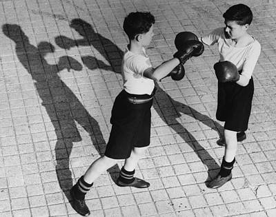 Boys Boxing Photograph - Shadow Boxing by Reg Speller