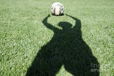 Goalkeeper Photograph - Shadow Playing Football by Mats Silvan