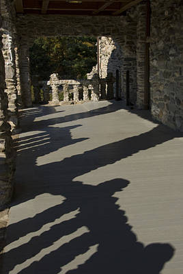 Shadows Cast On The Porch Of Gillette Print by Todd Gipstein
