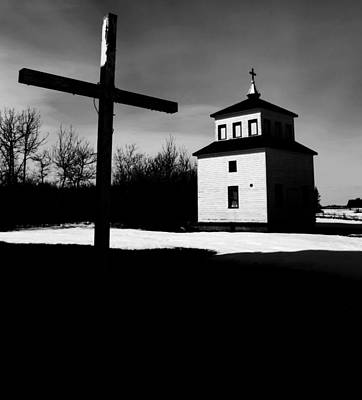 Shadows Of The Bell Tower Print by JC Photography and Art