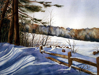 Shadows Of Winter Print by Daydre Hamilton