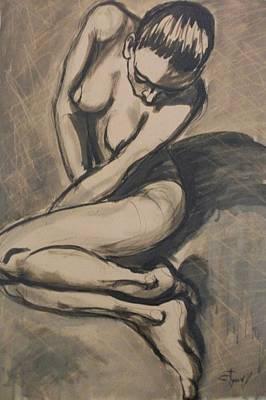 Shadows On The Sand1 - Nudes Gallery Print by Carmen Tyrrell