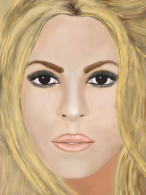 Shakira Digital Art - Shakira by Mathieu Lalonde