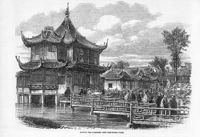 Ching Dynasty Photograph - Shanghai Tea Garden, 1863 by Granger