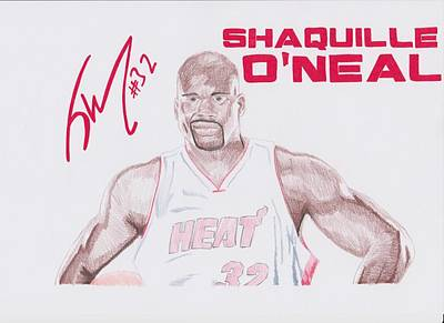 Shaquille O'neal Print by Toni Jaso
