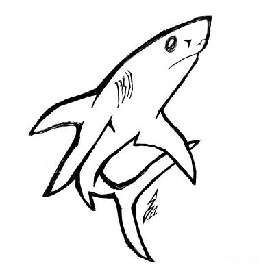 Animation Drawing - Sharky Staredown by Stef Schultz Sorry Little Sharky