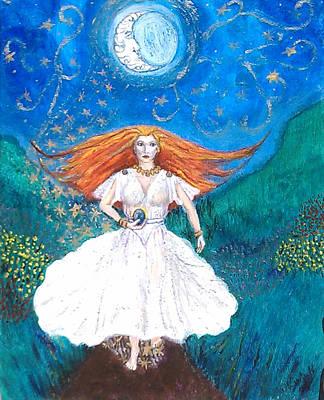 She Walks In Beauty Print by Janice T Keller-Kimball