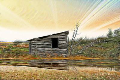 Shed In The Field Print by Vickie Emms