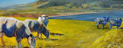 Sheep Painting - Sheep Painting by Mike Jory