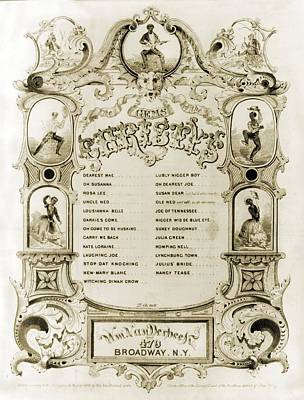 Sheet Music Cover Advertising The Songs Print by Everett