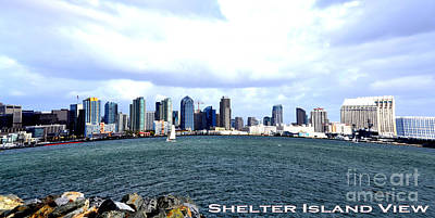 Shelter Island Ca View Print by RJ Aguilar