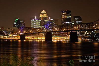 Southern Indiana Photograph - Sherman Minton Bridge by Joe Finney