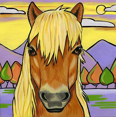 Shetland Pony Painting - Shetland Pony by Leanne Wilkes