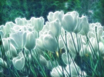 Floral Mixed Media - Shimmering Tulips by Georgiana Romanovna