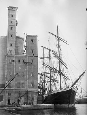 Ship And Silo Print by Harry Todd