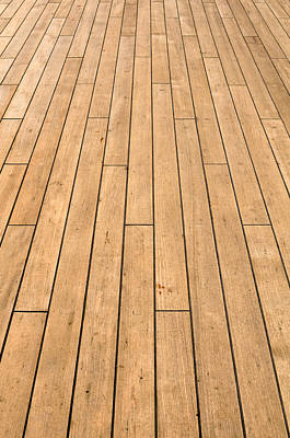 Ship Deck Used For Background Print by Brandon Bourdages