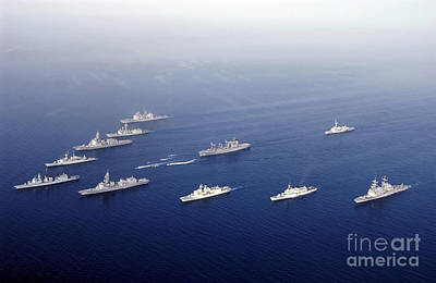 Inflatable Photograph - Ships And Rigid Hull Inflatable Boats by Stocktrek Images