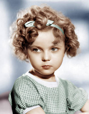 Temples Photograph - Shirley Temple, Ca. 1934 by Everett