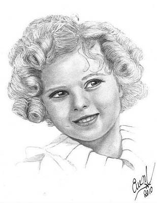 Shirley Temple Drawing - Shirley Temple by Eve Maureen Marshall