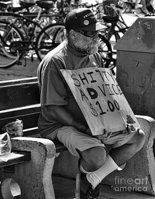 Hip Hop Photograph - Shitty Advice 1 Buck by Chuck Kuhn