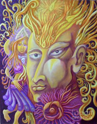 Egg Tempera Painting - Shiva by Evelyn Cammarano