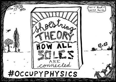 Shoe String Theory Book Title Cartoon Original by Yasha Harari