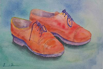 Shoes Of A Different Colour Print by Laurel Thomson