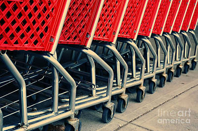 Stylized Photograph - Shopping Carts by HD Connelly