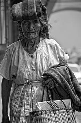 Shopping In The Basket Tortillas On The Head Print by Francesco Nadalini