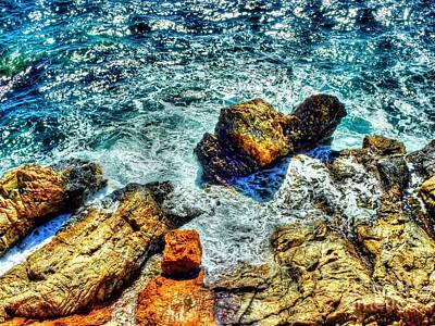 Shores Of The Aegean Print by Michael Garyet