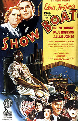 Helen Paul Photograph - Show Boat, Top From Left Irene Dunne by Everett