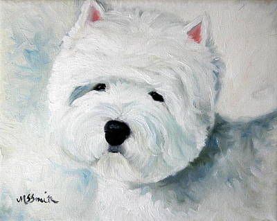 Cute Painting - Show Dog  by Mary Sparrow