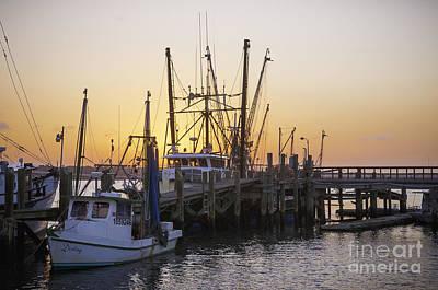 Shrimp Boats Port Royal Print by David Waldrop