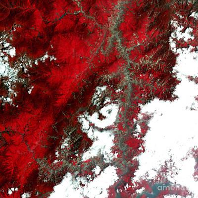 Sichuan Landslides, Post Earthquake Print by Nasa