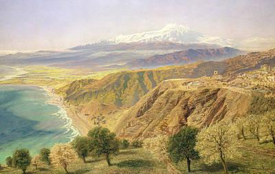 Sicily Painting - Sicily - Taormina by John Brett