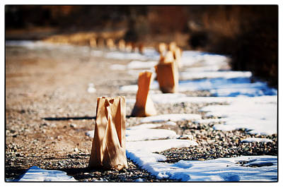 Photograph - Side Road Luminaries by Lisa  Spencer