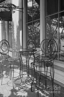 Sidewalk Cafe - Afternoon Shadows Print by Suzanne Gaff