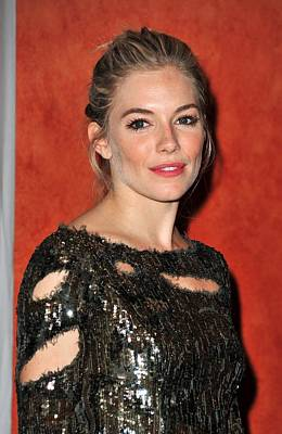 Sienna Miller Wearing A Balmain Dress Print by Everett